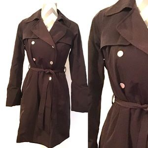 New York & Co. Brown Pea Coat